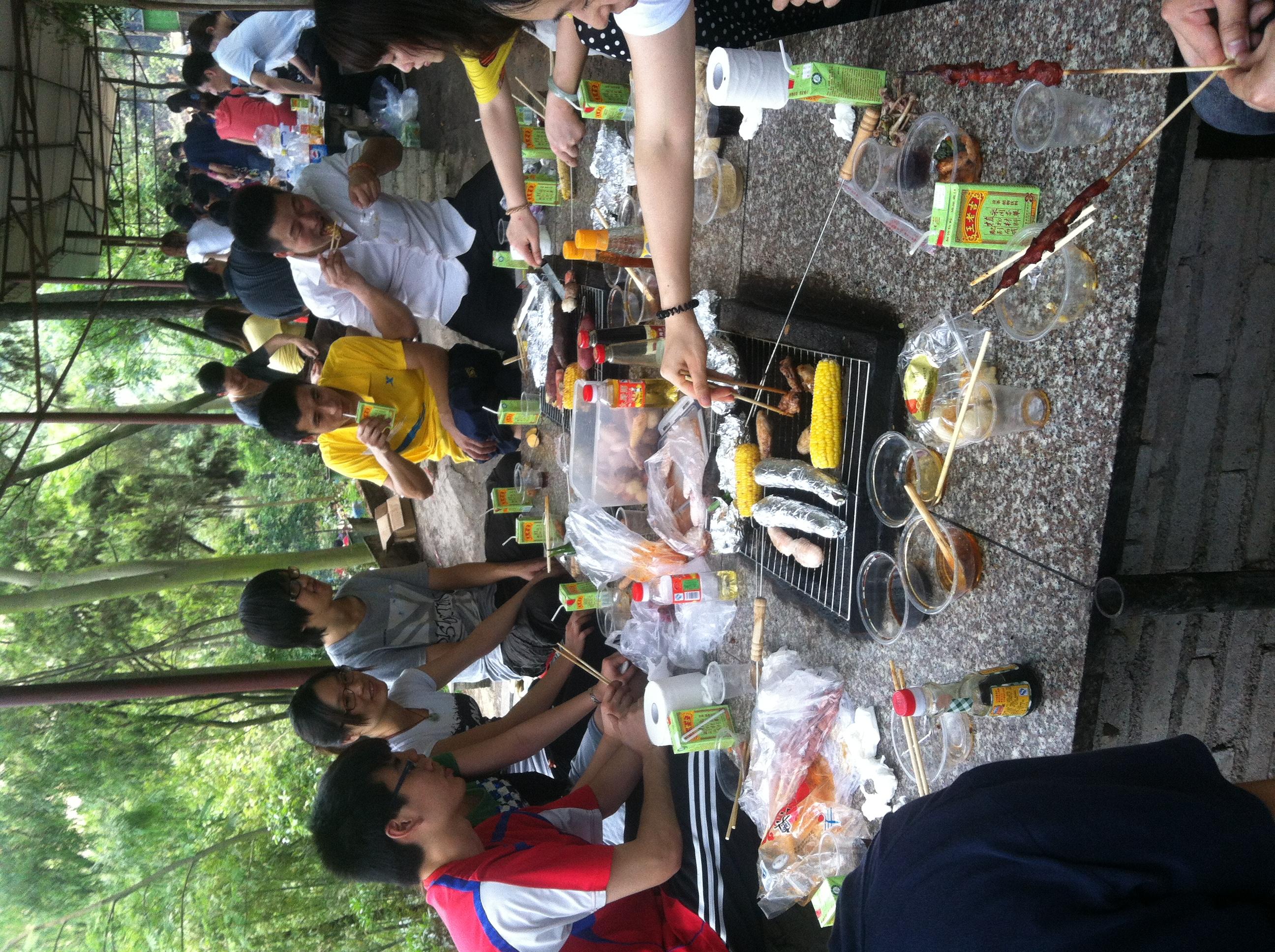 王胎公司五一大夫山烧烤记|员工社区|广州王胎保健